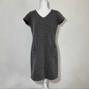 The Limited Tweed V-neck Sheath Career Dress M